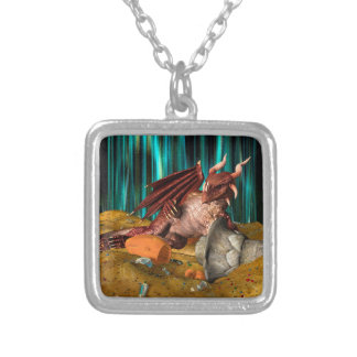 Dragon Treasure Silver Plated Necklace