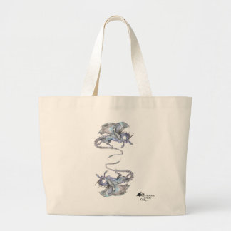 Dragon Unicorn Pegacorn Pegasus Winged Horse Large Tote Bag