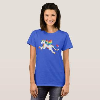 Dragon Unicorn Rainbow Flying Mythical White T-Shirt