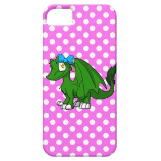 Dragon velu vert d'écart-type de pin avec le dos coque barely there iPhone 5