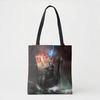 Dragon Viking Ship All-Over-Print Tote Bag