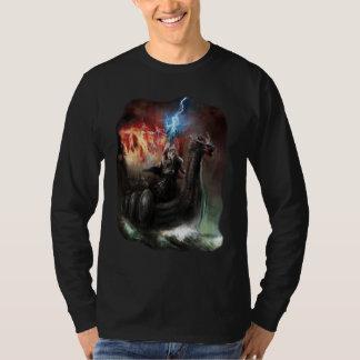 Dragon Viking Ship Dark Long Sleeve T-Shirt