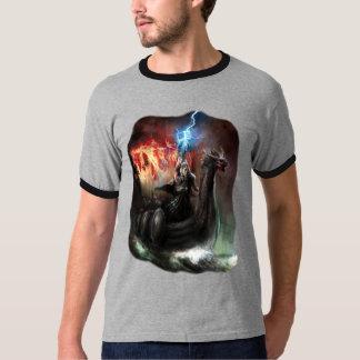 Dragon Viking Ship Dark Ringer T-Shirt