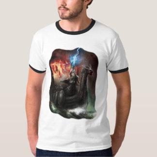 Dragon Viking Ship Ringer T-Shirt