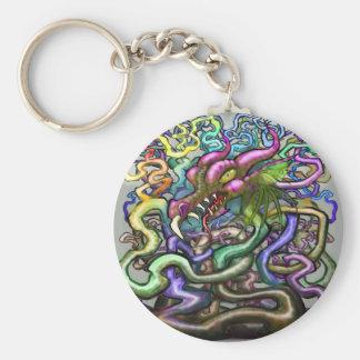Dragon Vines Basic Round Button Keychain