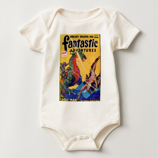 Dragon vs. Eagle Man Baby Bodysuit