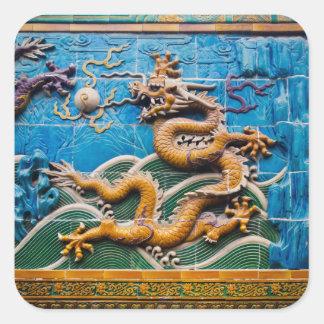 Dragon Wall Square Sticker