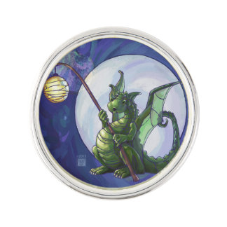 Dragon Watch Art Lapel Pin