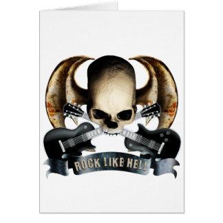 Dragon wing skull H Card