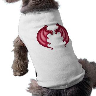 Dragon wings dog tee shirt