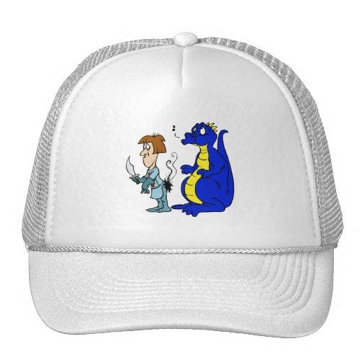 Dragon with Burnt Knight Trucker Hats
