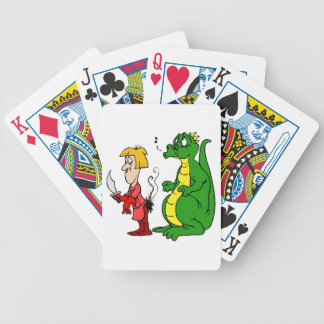 Dragon with Burnt Knight.png Bicycle Playing Cards