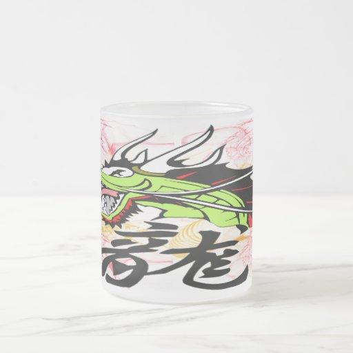 Dragon with Kanji Mugs