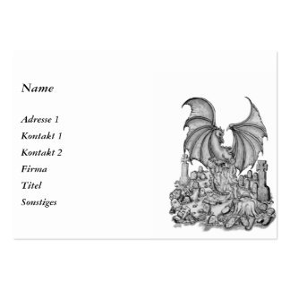 Dragon with Zombie Large Business Card
