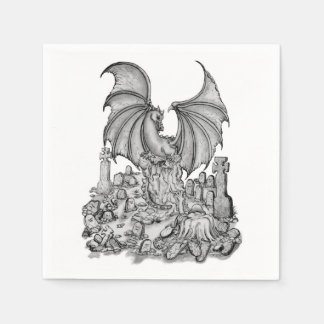 Dragon with Zombie Paper Napkins