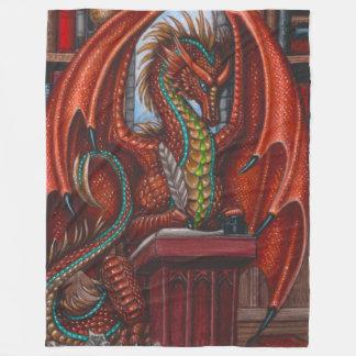 Dragon Writer Fleece Blanket