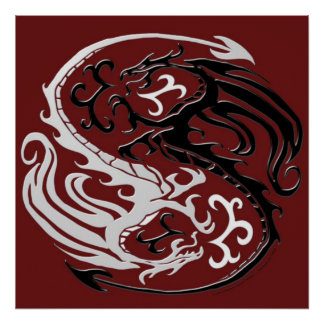 Dragon Yin Yang Print
