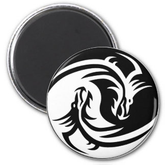 Dragon YinYang 2¼ Inch Round Magnet