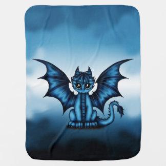 Dragonbaby blue baby blanket
