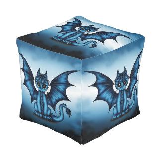 Dragonbaby blue pouf