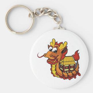 Dragonboat Basic Round Button Keychain