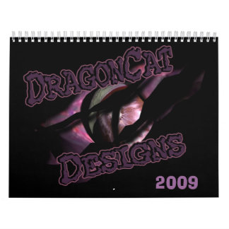 DragonCat Designs  2009 3D Dragons Wall Calendar