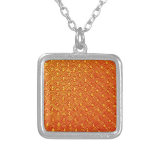 Dragonfire Scales Silver Plated Necklace