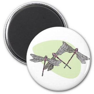 Dragonflies 2 Inch Round Magnet
