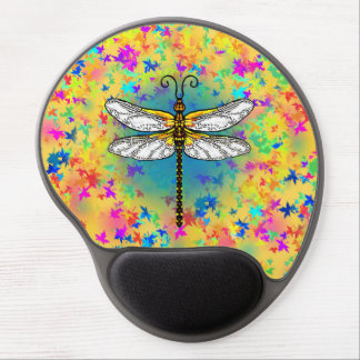 Dragonflies and Autumn Leaves Gel Mouse Pad
