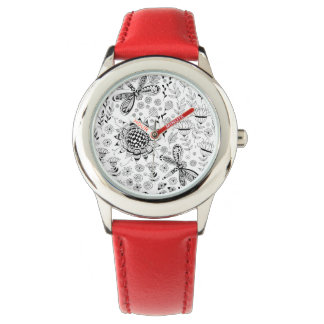 Dragonflies and flowers watch