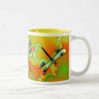 Dragonflies And Fractals Mug