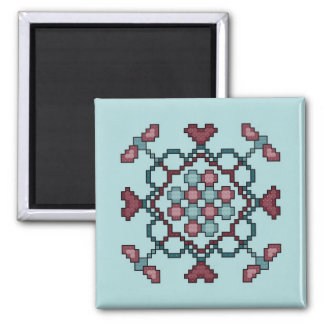 Dragonflies, Hearts and Circles Cross Stitch Patte Magnet