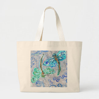 Dragonflies Large Tote Bag