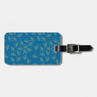 dragonflies luggage tag