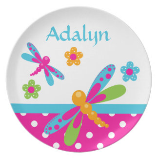 Dragonflies Pink/Blue Name Plate
