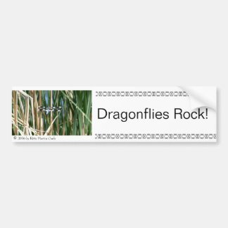 Dragonflies Rock! Bumper Sticker