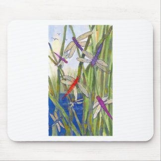Dragonflies Summer Mouse Pad