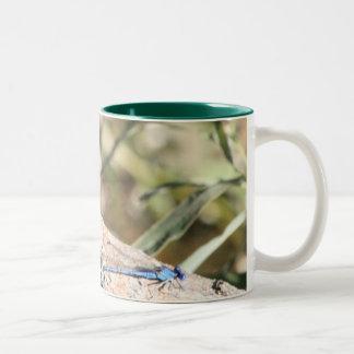 Dragonflies Two-Tone Coffee Mug