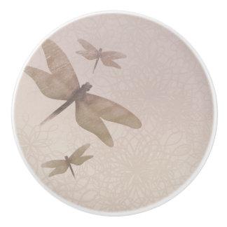 Dragonflies Vintage Dragonfly Chic Elegant Custom Ceramic Knob