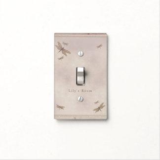 Dragonflies Vintage Dragonfly Chic Elegant Custom Light Switch Cover