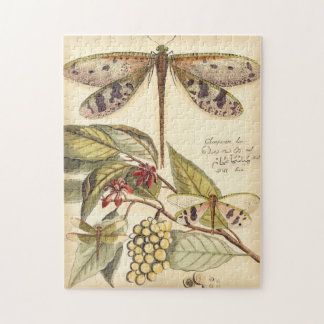 Dragonflies with Leaves and Fruit Jigsaw Puzzle