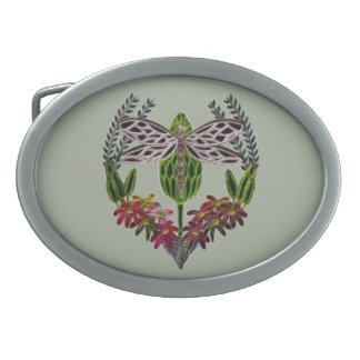 Dragonfly 1 oval belt buckle
