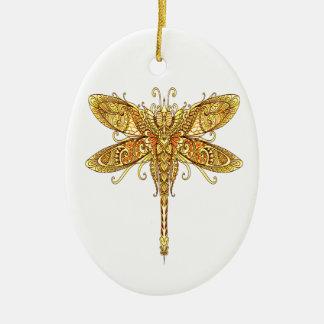 Dragonfly 3 ceramic ornament