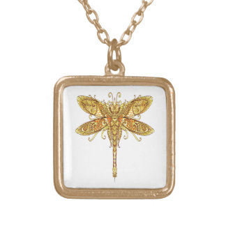 Dragonfly 3 gold plated necklace