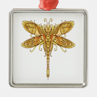 Dragonfly 3 metal ornament