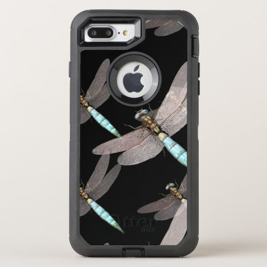 Dragonfly Air Force on Black OtterBox Defender iPhone 7 Plus Case