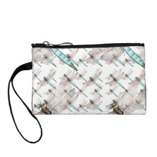 Dragonfly air Force on White Coin Purse