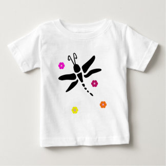 dragonfly and flowers baby T-Shirt