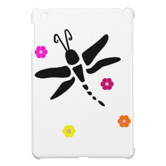 dragonfly and flowers case for the iPad mini