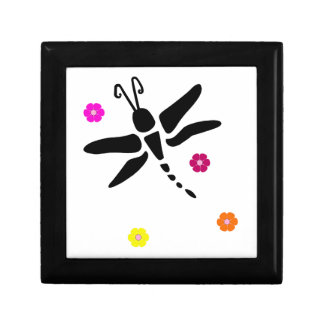dragonfly and flowers gift box